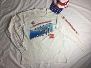 VTG 1986 ROYAL VICTORIA Marathon T-Shirt CANADA  XL HAT Goodlife Fitness