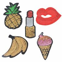 Fabric DIY Garment Patch Sewing Clothes Stickers Sequins Embroidered Applique