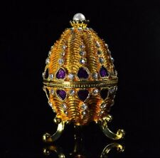 3.9 Golden Faberge Inspired Easter Egg and Trinket Gift  box