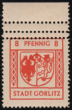 Lokalausgabe Görlitz Mi.Nr. 3 Vz postfrisch geprüft BPP Mi.Wert -€ (7222)