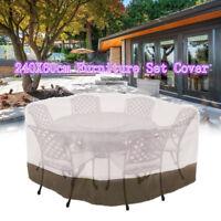 "94"" Large Round Veranda Patio Set Cover Table & Chair Outdoor Garden Furniture"