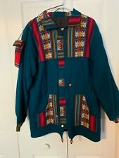 VINTAGE SOUTHWEST DESIGN Hand Made Woman's Coat Jacket sz S Small MATCHING PURSE