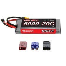 Venom LiPo Battery : Traxxas Slash 1:10 20C 7.4V 5000mAh 2S with UNI Plug