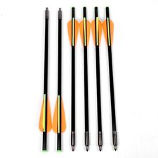 6Pcs 13.6 inch Fiberglass Arrows Fletched Vane Archery For Compoundbow Hunting