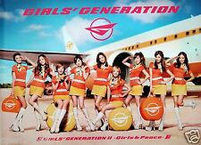 "GIRLS' GENERATION ""GIRLS & PEACE"" THAILAND PROMO POSTER -Flight Attendants & Jet"