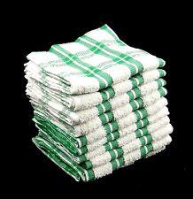 70 pcs très bon marché vrac acheter 100% coton cuisine torchons terry-vert & bla...