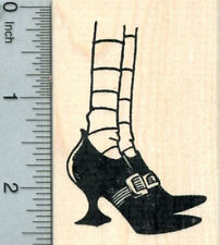 Witch Legs Rubber Stamp, Halloween Shoes J30801 WM