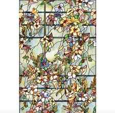 Stained Etched Home Window Film Decorative Privacy Glass Art Bedroom Floral New
