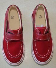 paire de chaussure bateaux neuve de couleur rouge enfant taille 28 (an)