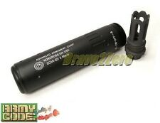 Airsoft Barrel Extension AAC Style 145mm w/ SCAR Flash Hider CCW