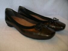 New Women's Clarks Candra Glow Ballet Flats Slip-On Shoes Bronze Size 8N EU 39N