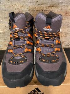 Adidas Men's Hiking Shoes Feldspar Black/Gray/Orange Laces and Trim. Size 10 NIB