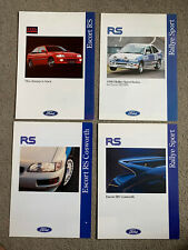 Four Ford Escort RS Performance Car Brochures - RS 2000, Cosworth