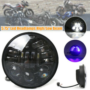 """5.75"""" 55W Motorcycle LED Headlight Daytime Running Lights Halo Round Projector"""
