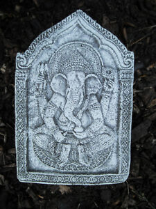 Ganesha Wandrelief  aus massiven Steinguss  Frostfest Wetterfest Garten