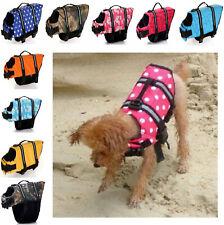 Adjustable Pet Swimming Safety Vest Dog Life Jacket Reflective Stripe Swimsuit