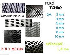 LAMIERA PIANA FORATA ZINCATA FORO 3 4 5 6 8 10 mm DIMENS 2 x 1mt SPESSORE 1,5 mm