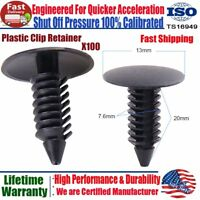 100Pcs Plastic Clip Trim Car Auto Push Pin Rivet Bumper Fastener Panel Retainer