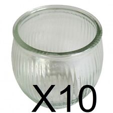 10 Glade style candle jars. Nice ribbed design. 200ml Candle making glass jars