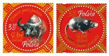 Poland 2020/21 Lunar New Year Rat Ox Round odd shaped Stamps 2v