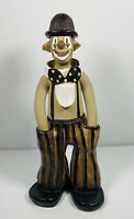 1970s Vintage Elizabeth Haslam Clown In A Bowler Hat Studio Pottery Hand Made