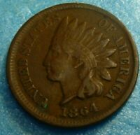 1864  Indian Head Penny Cent  Coin  #B64    Better Grade