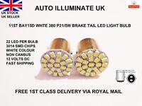 2x 1157 BAY15D 380 P21/5W 22 LED SMD White Car Stop Tail  Brake Light Lamp Bulb