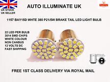 1157 BAY15D 380 P21/5W 22 LED SMD White Car Stop Tail Brake Light Bulbs Lamp 12v