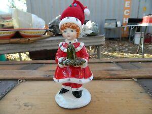 Vintage Schmidt Thimble Holder Pin Cushion Hat Christmas Girl