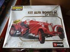 BBURAGO SCALE 1/18 1:18 7014 alfa romeo 8c G.P. Monaco Metal Kit