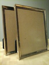 Decorative Collectible Picture Frame set Matching 8x10 brass w/gold tone