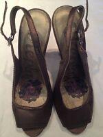 Replay - scarpe Sandali - colore marrone con scritta REPLAY - tacco 12 cm  USATE