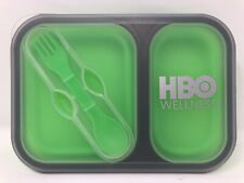 HBO Wellness Employee Lunch Travel Bento Box Silicone With Spoon/Fork Utensil