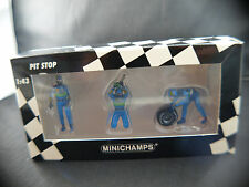 Minichamps PIT Stop F1 Tyre Change set personnages stand BENETTON neuf 1/43  MIB