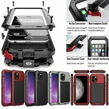 Para iPhone 11 Pro Max 12 7 Plus XS Xr Funda a Prueba de Impactos de Aluminio de Metal pesado