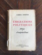 Carmen Desmulie-Ennesch Emigrations politiques Envoi de l'auteur 1946