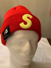 SUPREME/ NEW ERA, S LOGO RED BEANIE OS, FW19 WEEK 13 (IN HAND) AUTHENTIC NEW