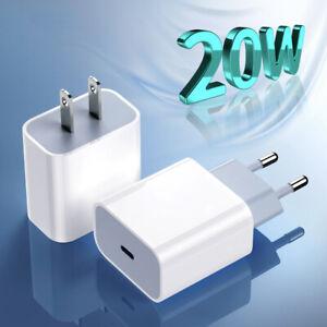 Cargador Rápido 20W USB PD Adaptador Tipo-C Para iPhone 12 11 Pro XS Max iPad