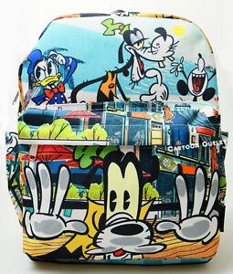 "Disney Goofy Purse Backpack 12"" Mickey Donald Duck Goofy Art Fashion Bag Gift"