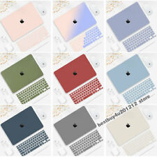 Creamy Candy Matte Case +Keyboard Cover For Macbook Pro Air 11 12 13 15 16 Shell
