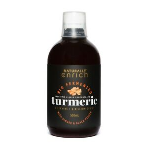 Turmeric Bio Fermented Liquid Concentrate- Rich in Probiotic 500 ml bottle New