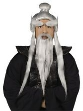 Japanese Asian Martial Arts Master Sensei Wig and Beard Set