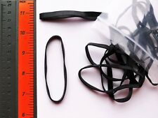 10 Large Black Rubber Bands for Fishing Size #64 (3.5�x1/4�) Uv & Heat Resistant