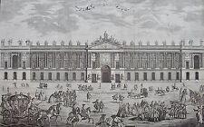 CHARPENTIER d'après BLONDEL : COLONNADE DU LOUVRE, vue perspective façade.. 18 è