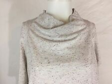 ❤️COLUMBIA Womens White SPECKLED Cowl Neck Batwing 3/4 Sleeve Shirt Top❤️Large❤️