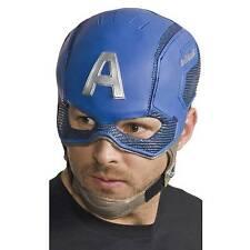 Adult Captain America Marvel Avengers Heroe Full Latex Mask Costume Ru36460