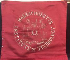 Rare Massachusetts Institute Technology MIT MENS MANUS Embroidered Pillow Cover