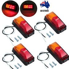 4 X 8-LED CAR SIDE MARKER LIGHTS, CLEARANCE LAMP RED AMBER TRAILER TRUCK 12/24V