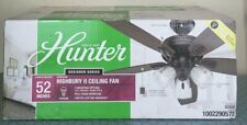 NEW HUNTER Highbury II 52 in. LED Indoor Matte Black Ceiling Fan with Light