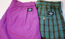 Two Pair Lot Dockers Pleated Cotton Dress Walking Shorts Women's 8